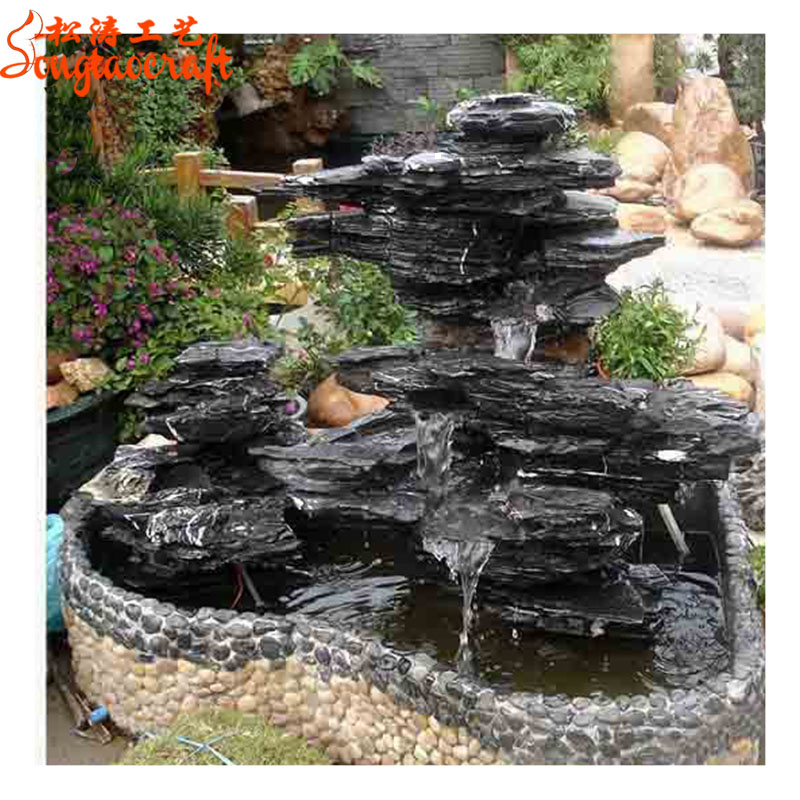 China factory wholesale plastic water fountain with water fountain pumps fiber glass fountain of water