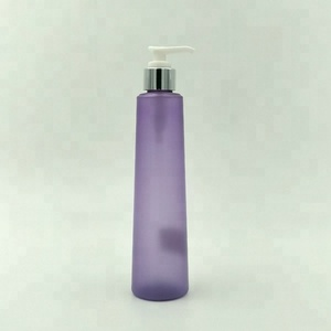 Cylinder Toner Bottle/ 250ml PET Cosmetic Lotion Container/ Plastic Body Essential Oil Bottle