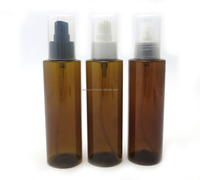 Wholesale 150ml amber plastic body lotion pump bottle