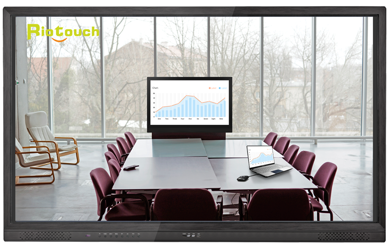 Riotouch IR 10 point 65 inch Open Cell 4K uhd touch screen monitor For school and office
