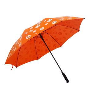 60 Inches big size custom golf promotional umbrella with logo printing