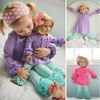 2017 spring kids clothes organic baby doll sets wholesale children's boutique clothing