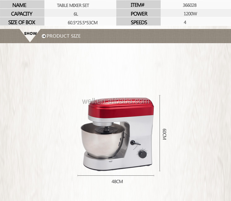 Multifunction table mixer with meat grinder and blender
