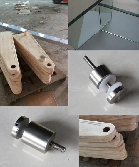 Steel Wood Spiral Staircase Glass Railing Internal Round Ladder