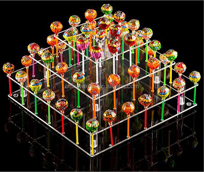 Fashionable Clear Acrylic Lollipop Display Stand