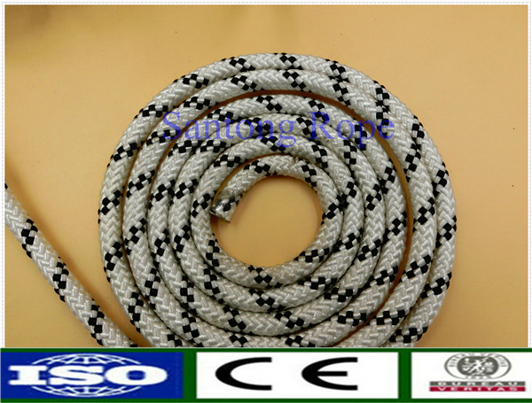 Diamond braid polyester rope for ship yacht sailing rope