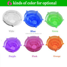 Set of 6 Silicone Pot Cover Lid, Fresh Silicone Food Cover