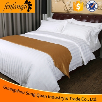 100% Cotton Plain White T200 Hotel Bed Sheet Hotel Living Bedding Sheets