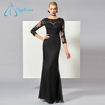 Floor Length Long Sleeve Custom Made Designer Evening Dress Patterns