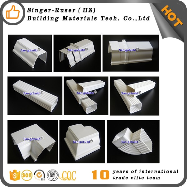 Best Selling New and High-tech Product Building and Decoration Rain Gutter Fittings Roof Fittings PVC Rain Gutter Skew Tee