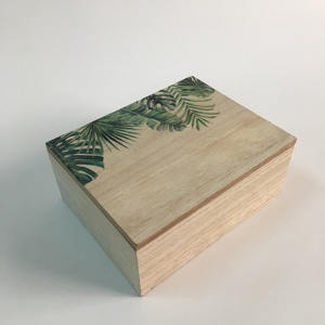 Custom mini storage box mdf wooden gift box with lid