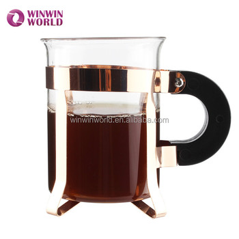 Best Selling Products Handmade Glass Coffee Cups With Metal Holder And Plastic Handle Buy Glass Coffee Cup With Metal Holderglass Cup With Metal