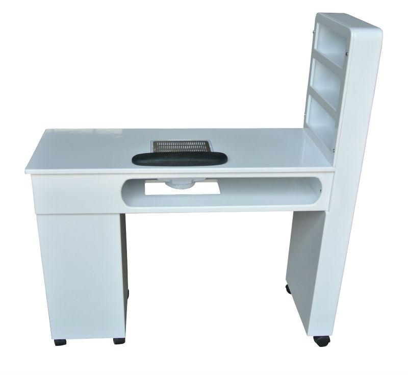 nagel salon meubels wit hout, nagel tafel met ventilator-nagel tafels ...