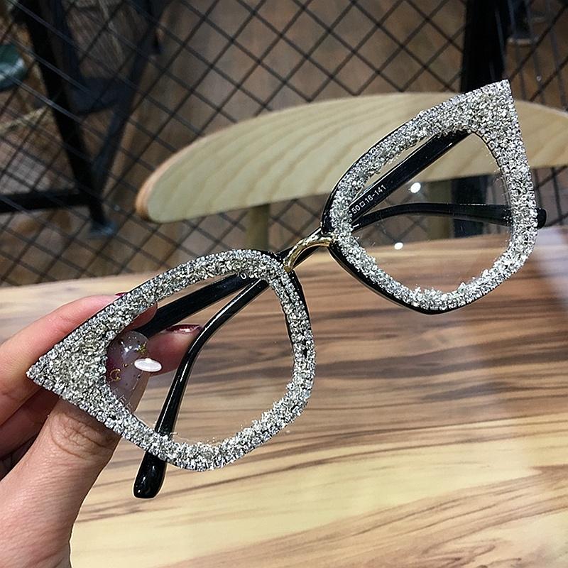 2019 Vintage cat eye Glasses frame retro Female Brand Designer gafas De Sol silver gold Plain eye Glasses Gafas eyeglasses фото