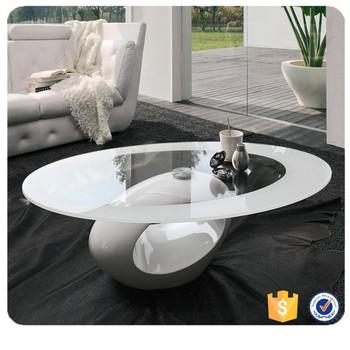 Table Basse Moderne En Fiber De Verre Laque De Forme Ronde A