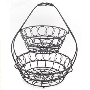 Decorative Iron wire bulk wire mesh fruit basket
