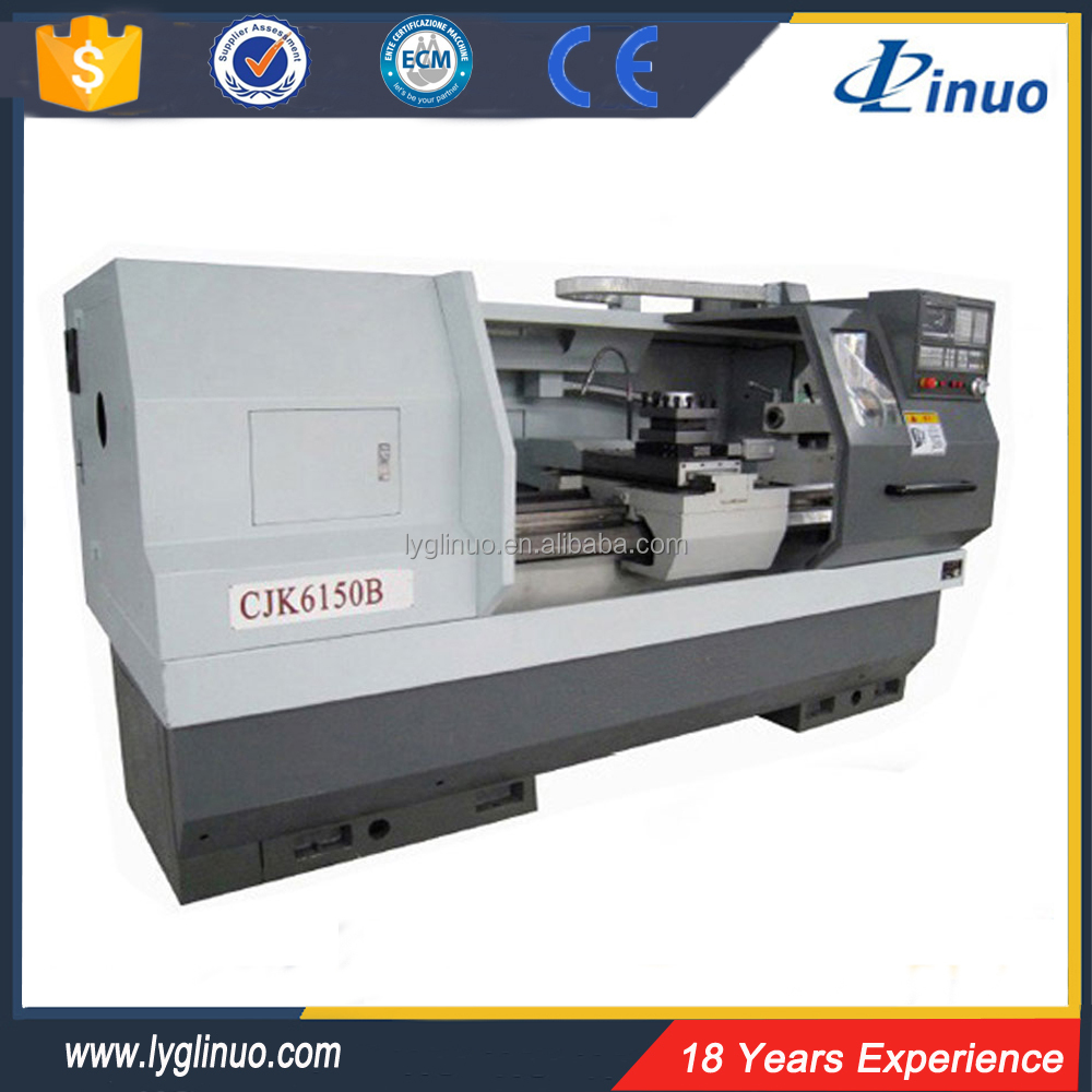 Hydraulic automatic pipe threading CJK6150B desktop cnc lathe machine
