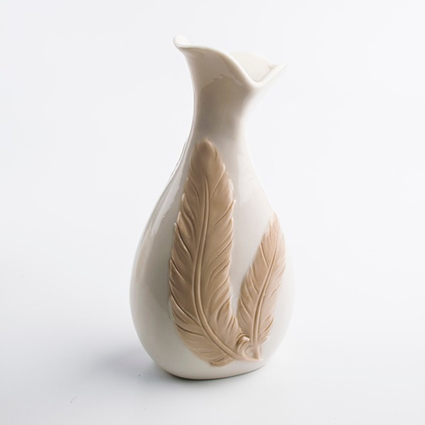 custom China ceramic feather vase for home decoration for hotels