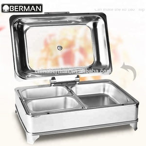 Yindu kitchen equipment co ltd stainless steel restaurant food buffet chafer plate warmer, chafing dish set