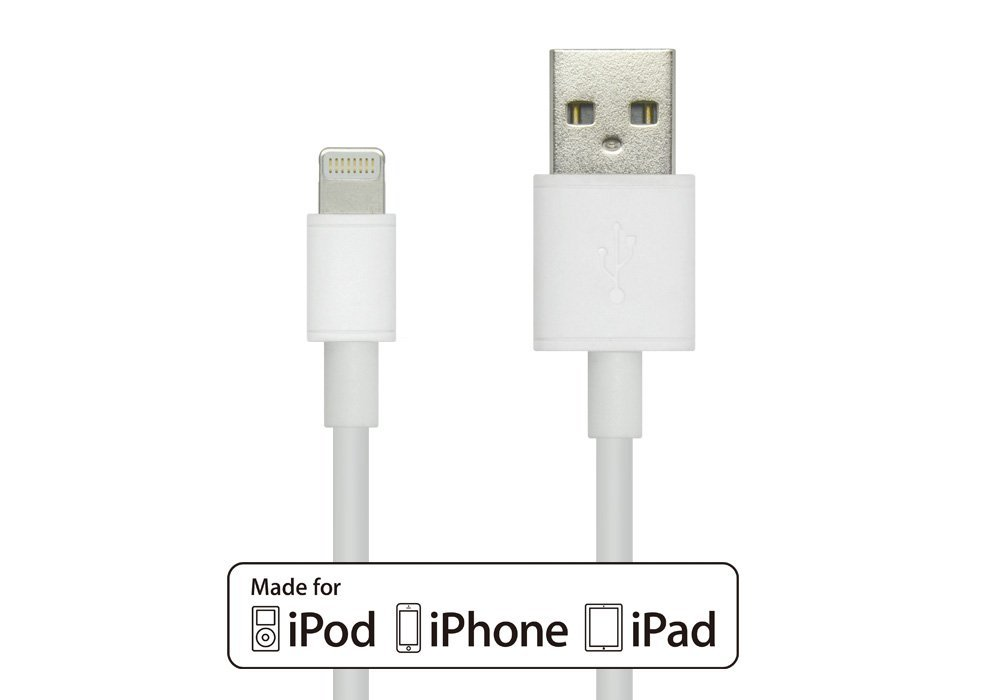 iTechnology® Apple MFi Certified Power/SYNC Lightning to USB Cable 3.2ft / 1.0m,Lightning Cable with Ultra-Compact Slim Head Perfect for iPhone 6/Plus/ 5s 5c 5, iPad Air Air2 mini3, iPad 4th gen, iPod touch 5th gen, and iPod nano 7th gen,iPhone 6 cable,iPhone 6 plus data cable,Lifetime Warranty