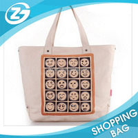 Natural Color Personalized Logo Cotton Bag/Cheap Logo Shopping Tote Bags/Durable Cotton Canvas bag