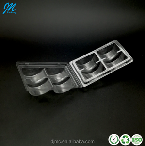 Factory Supplier High Quality 4 Holes Clear Plastic Macaron Blister Tray