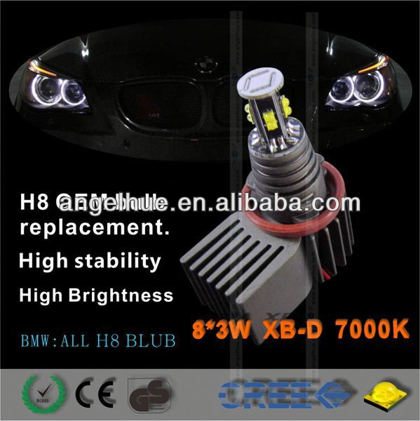 2013 new car led light H8W10 angel eye angel eyes for honda fit