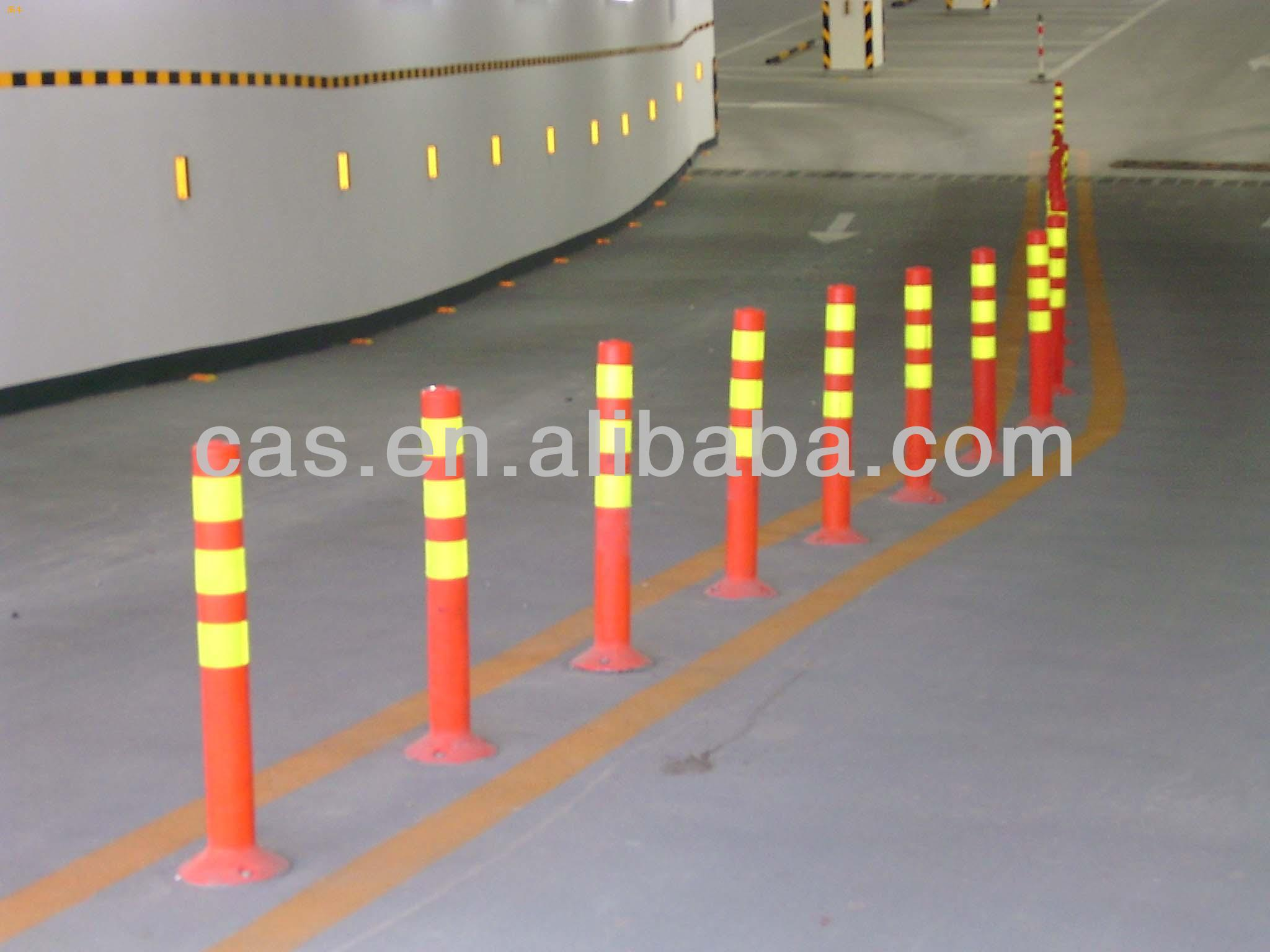 Reflective warning pvc post / Plastic Bollard / spring post