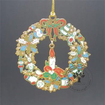 Christmas Theme Metal Etched Christmas Tree Hanging Ornament Buy