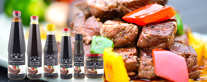 High quality 230g OEM black pepper steak sauce