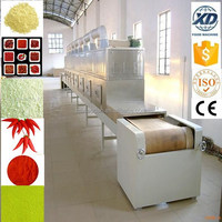 continuous microwave sterilizer for dehydration vegetable/pet food sterilizing machine/chili drying machine