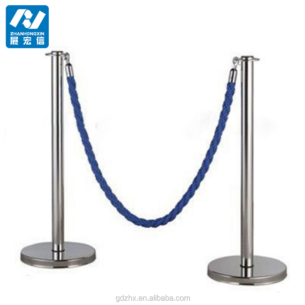 Rope barricade concrete crowd control barrier