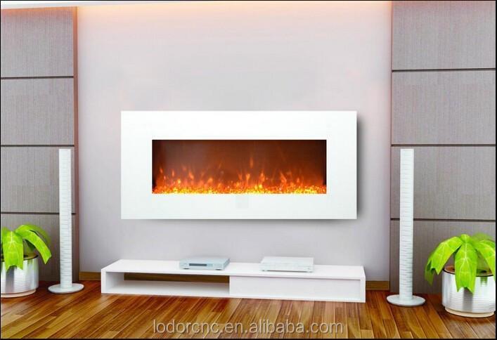 Blanc mural foyer lectrique chemin e lectrique id de for Foyer mural electrique