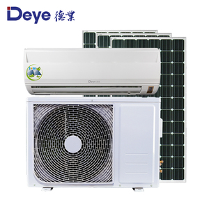 AC/DC hybrid solar powered air conditioner for homes