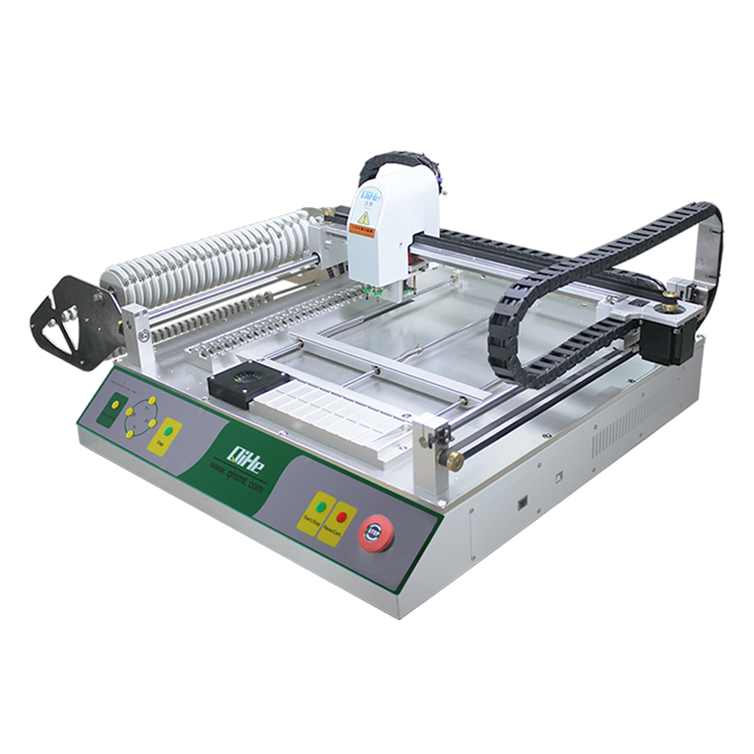 29 Pcs Feeders 2 Plaatsing Heads SMT Pick and Place Machine + Vision systeem 110 v/220 v SMT desktop PNP Machine