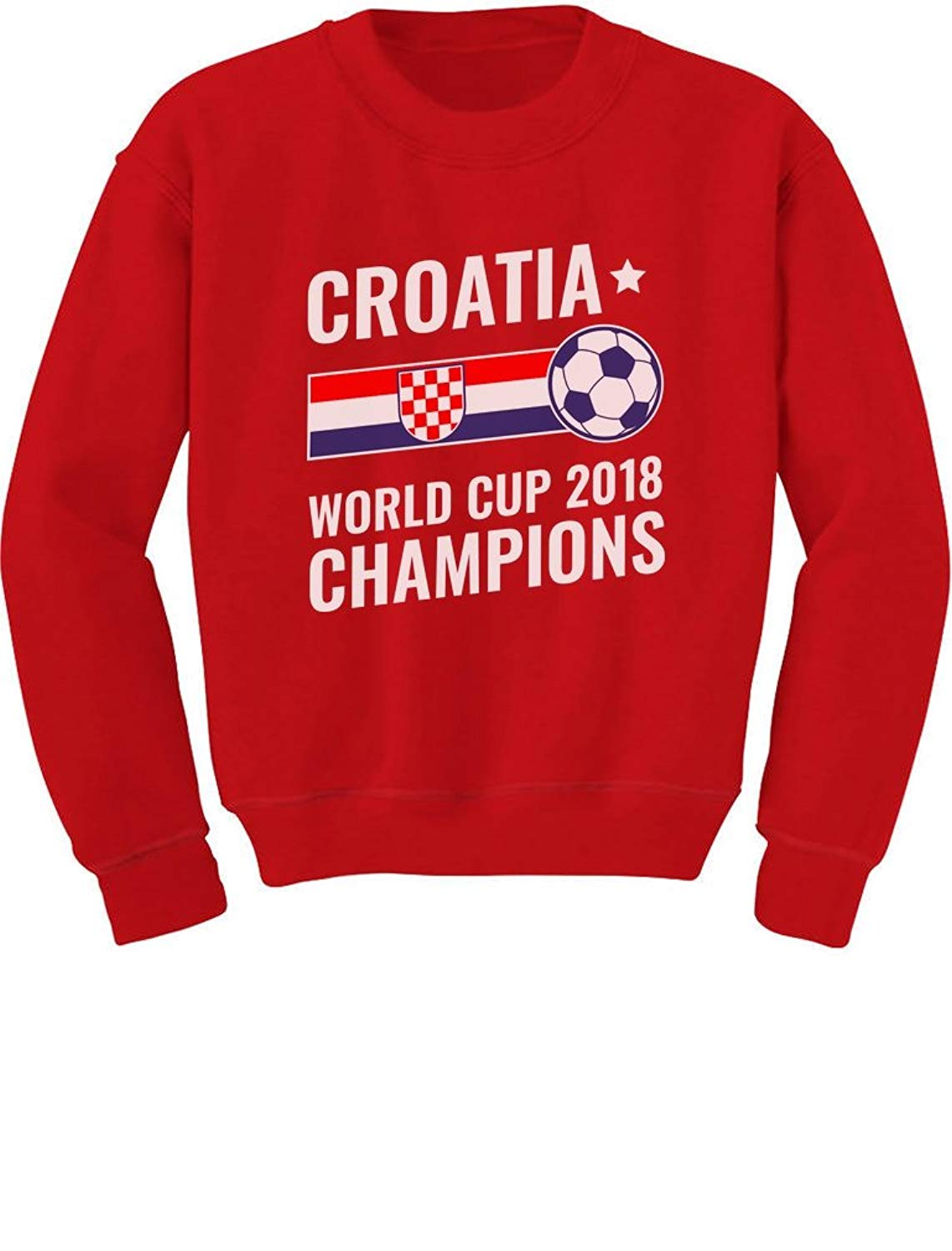 f38adbf7 Get Quotations · Tstars - Croatia 2018 Champions National Soccer Team Fans  Youth Kids Sweatshirt