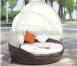 moderne ronde rotan lounge bed tuin pe rotan lounge bed. Black Bedroom Furniture Sets. Home Design Ideas