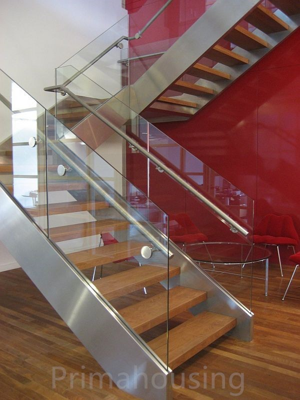 Aluminum U Channel Frameless Glass Railing Glass Balustrade