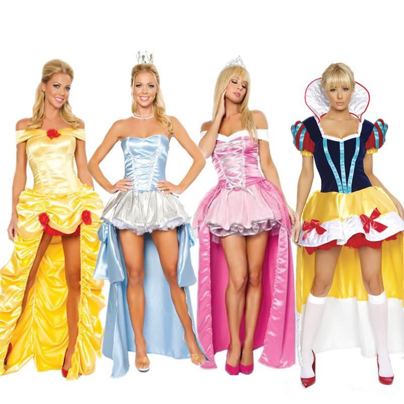 Original Princess Snow White Cinderella Dresses Costumes: Halloween Costumes For Women Adult Cinderella Dress