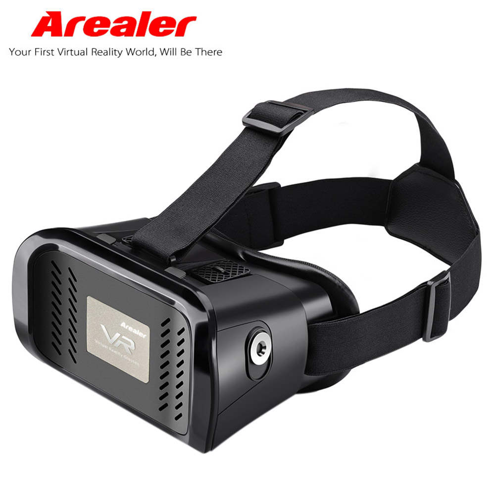 Arealer Google Cardboard Vr Virtual Reality 3d Glasses Vr Glasses Headset Diy Movie Game Video Head Mounted For 3 5 6 Phone