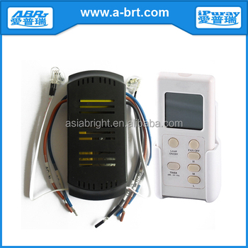 3 speed ir ceiling fan electrical switch kit with lcd display with remote control - Ceiling Fan Switch