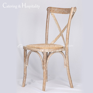 China Wholesale hotel furniture wedding oak wooden dining chair rattan seat wooden cross back wood chairs