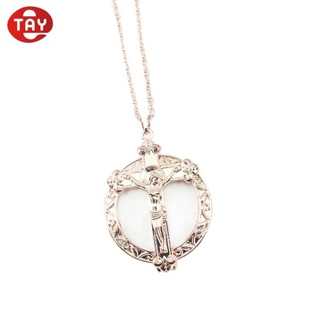 NEW christian pendant necklace magnifier loupe jewelry