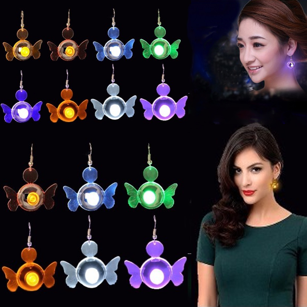 2016 Promotion Hot Selling Led Lighting Earring Party Christmas Bling Led Earrings Fashion <strong>Jewelry</strong>