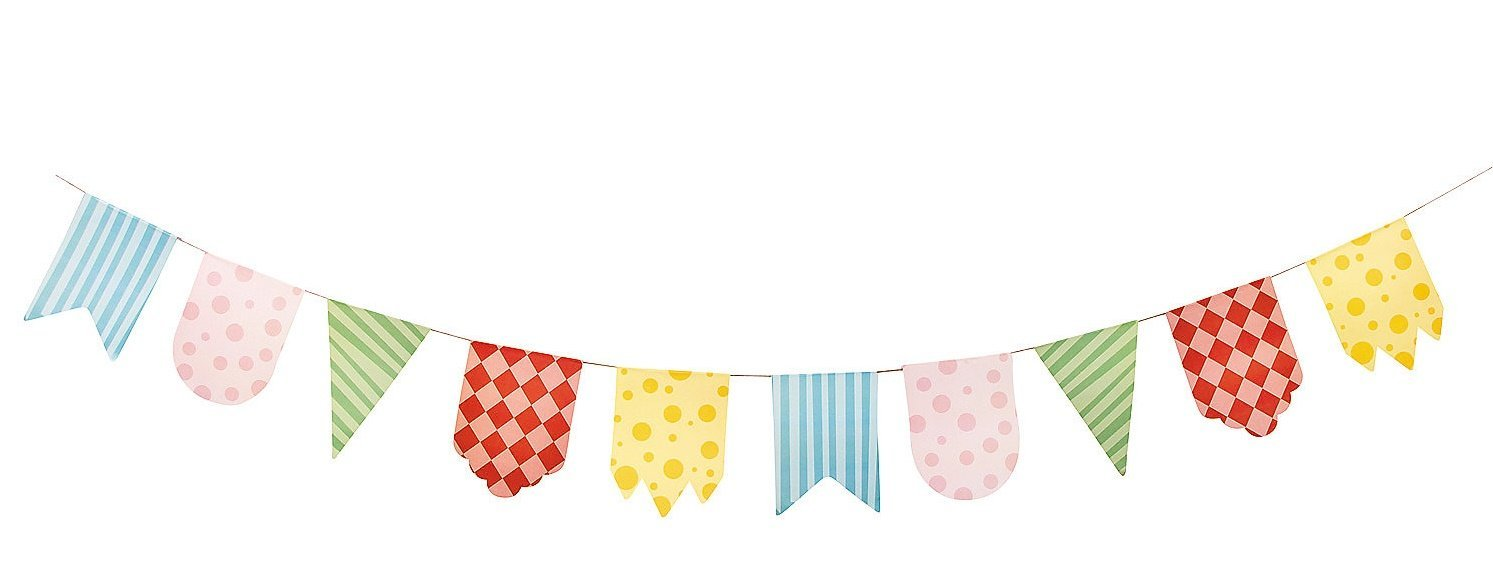 Super Buy 1st Birthday Circus Pennant Banner - Party Decorations & Flags  PU32