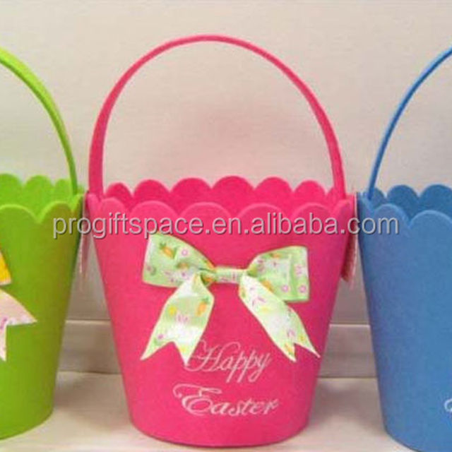 China handmade easter gifts wholesale alibaba hot sale hight quality new product promotion holiday gift handicraft felt handmade cute easter buckets for negle Images