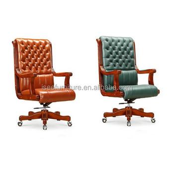 Dark Green Colored Antique Indian Wooden Design Chair Armrest IH100
