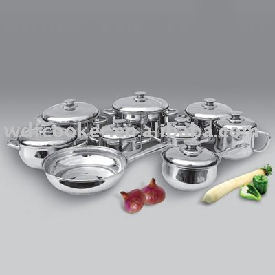 17 pcs stainless steel cookware