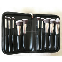 10pcs makeup brush clear handle new products 2017 oem