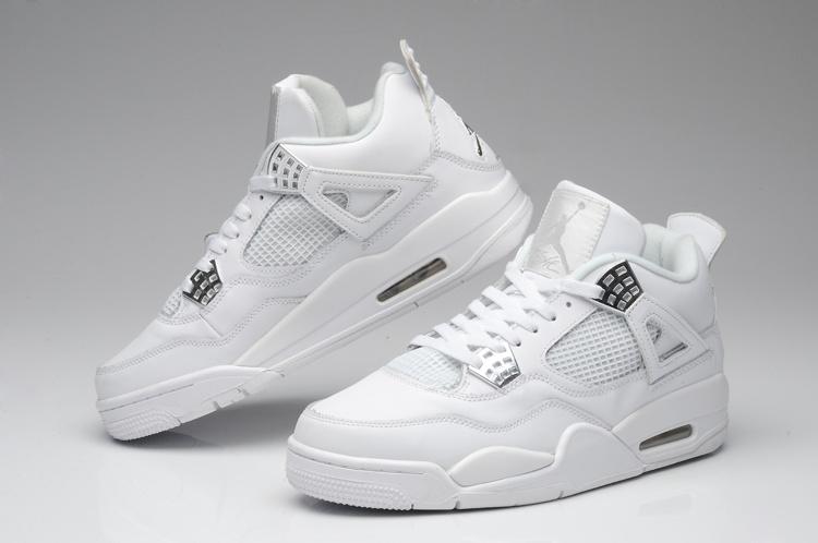 buy popular dc135 d3cd2 Mens Air Jordan Retro 4 White Black shoes